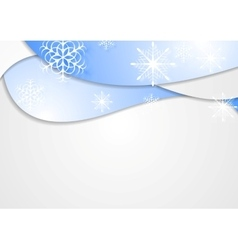 Blue wavy Christmas background vector image