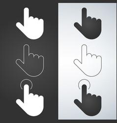 click hand icon set click hand icon flat design vector image