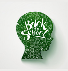kids face chalkboard with back to school vector image vector image