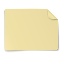 Rectangular yellow paper sticker note vector image