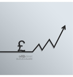 Ribbon pound sign and exchange the curve arrow vector image vector image