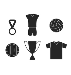 Volleyball Set vector image