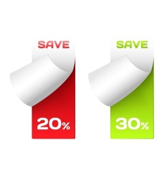 Discount labels Set of stickers for options vector image