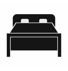Double bed icon simple style vector image