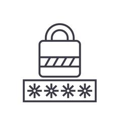 passwordlogin lock line icon sign vector image
