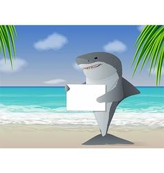 Shark Beach vector image vector image