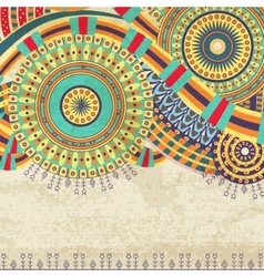 Attractive Ethnic Background Design vector image vector image