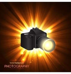 camera shooting photo and video vector image
