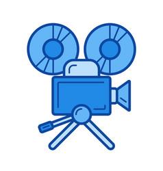 cinema camera line icon vector image vector image