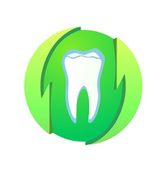Logotype with healthy teeth vector image vector image