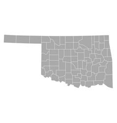 map of oklahoma vector image