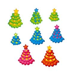 Childish cute Christmas tree Kid style little vector image vector image