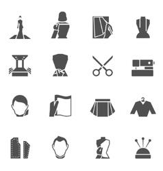 Clothes designer icons black vector image vector image