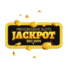 Jackpot casino label background sign Casino vector image vector image