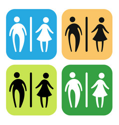 toilet sign set vector image vector image