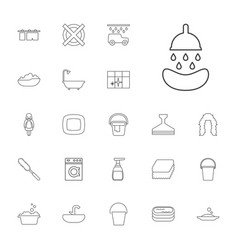 22 wash icons vector