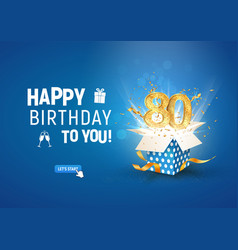 80 th years anniversary banner with open burst vector