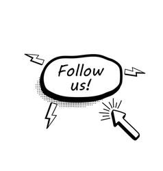 abstract follow us botton vector image