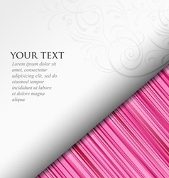Abstract paper roll on pink background vector