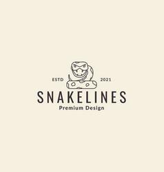 Animal cartoon lines snake python logo symbol vector