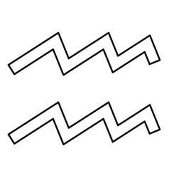 Aquarius symbol zodiac icon black color flat vector