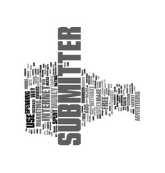 Article submitter text background word cloud vector