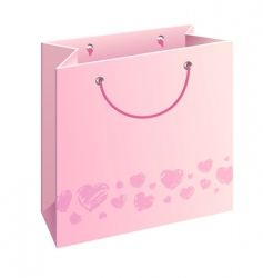 Bag with hearts vector