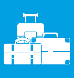 Baggage icon white vector