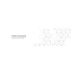 banner design with hexagons abstract vector image