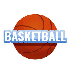 Basketball ball logo cartoon style vector