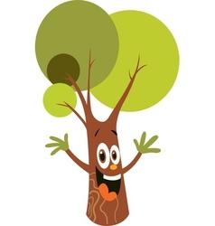 Cartoon tree character vector