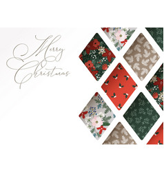 christmas greeting card invitation close-up of vector image