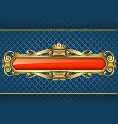 Classic golden banner vector