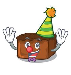Clown brownies mascot cartoon style vector