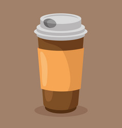 Coffee drink container icon vector