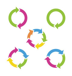 Colorful cycle arrows vector image