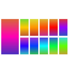 Colorful of abstract gradients set vector