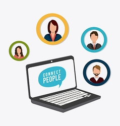 Connect people design vector image