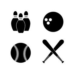 contour diferents plays balls icon vector image