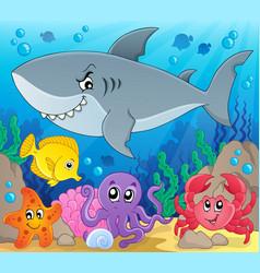 Coral fauna topic image 3 vector