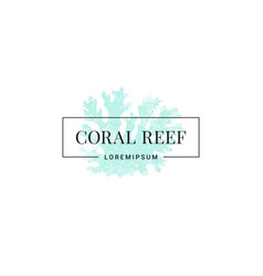 Coral reef logo blue on white background vector