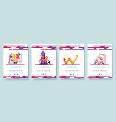 creative team working process mobile app screens vector image