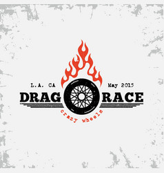 Drag race label vector