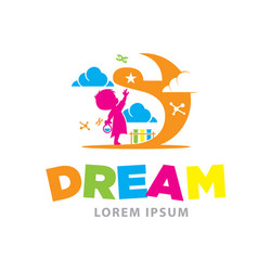 dream logo designs vector image