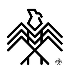 eagle logo decorative icon linear vector image
