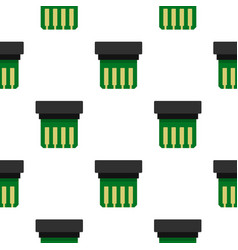 electronic circuit board pattern flat vector image