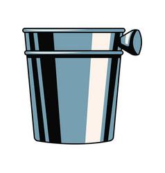 Empty ice bucket vector