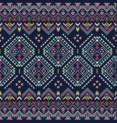 ethnic seamless pattern aztec tribal art print vector image