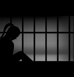 female in prison vector image