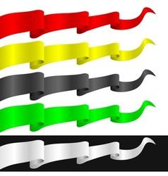 Fluttering ribbons vector image